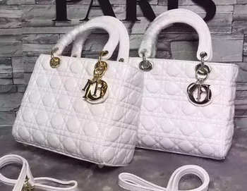 Dior Small Lady Dior Bag Sheepskin Leather CD6322 White