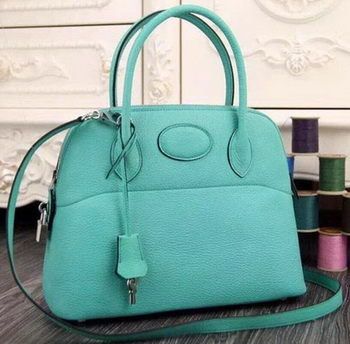 Hermes Bolide 37CM Calfskin Leather Tote Bag B1004 Light Green