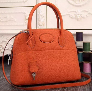 Hermes Bolide 37CM Calfskin Leather Tote Bag B1004 Orange
