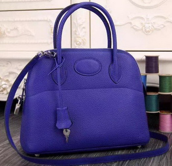 Hermes Bolide 37CM Calfskin Leather Tote Bag B1004 Royal