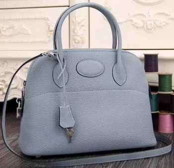 Hermes Bolide 37CM Calfskin Leather Tote Bag B1004 SkyBlue