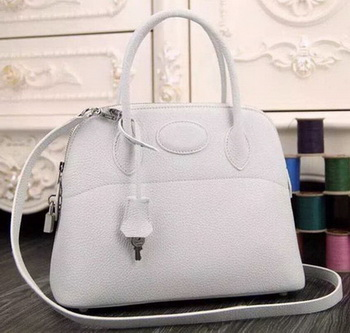 Hermes Bolide 37CM Calfskin Leather Tote Bag B1004 White