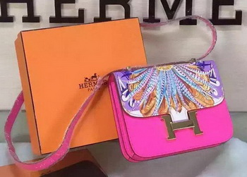 Hermes Constance Bag Original Leather H027 Rose