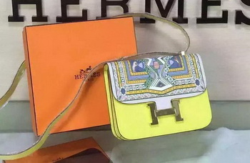 Hermes Constance Bag Original Leather H027 Yellow