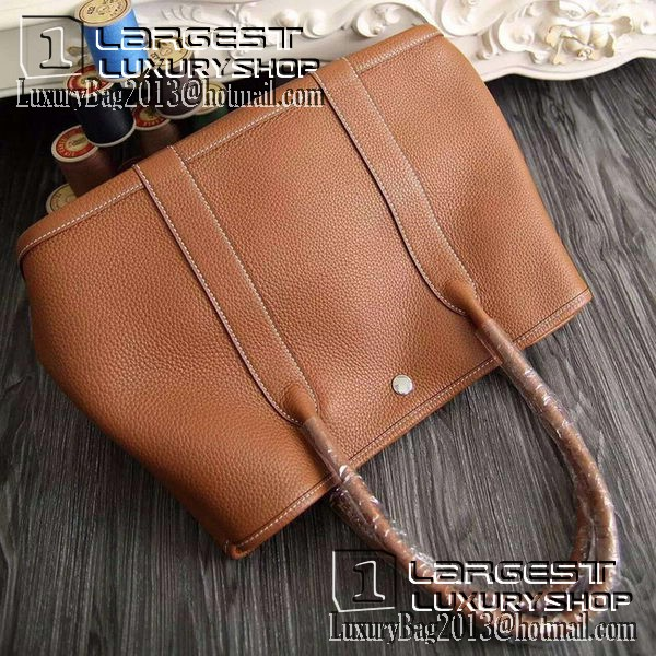 Hermes Garden Party 36cm 30cm Tote Bag Original Leather Brown