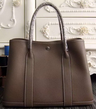 Hermes Garden Party 36cm 30cm Tote Bag Original Leather Grey