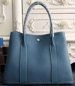 Hermes Garden Party 36cm 30cm Tote Bag Original Leather Light Blue