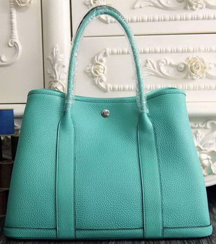 Hermes Garden Party 36cm 30cm Tote Bag Original Leather Light Green