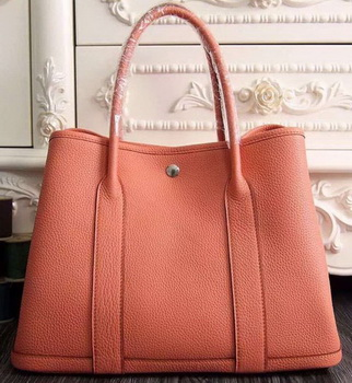 Hermes Garden Party 36cm 30cm Tote Bag Original Leather Light Pink