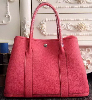 Hermes Garden Party 36cm 30cm Tote Bag Original Leather Light Red