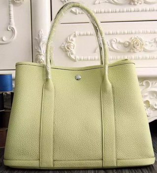 Hermes Garden Party 36cm 30cm Tote Bag Original Leather Light Yellow