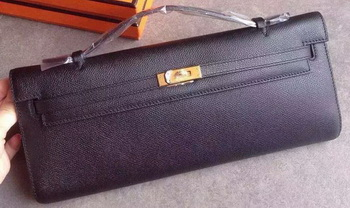 Hermes Kelly 31cm Clutch Original Leather KL31 Black