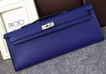 Hermes Kelly 31cm Clutch Original Leather KL31 Blue