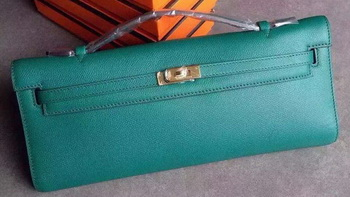 Hermes Kelly 31cm Clutch Original Leather KL31 Deep Green