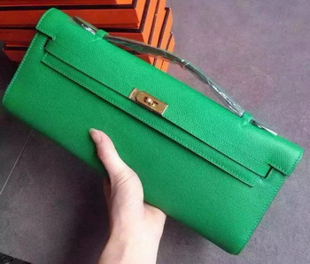 Hermes Kelly 31cm Clutch Original Leather KL31 Green
