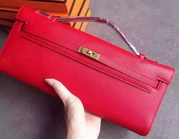 Hermes Kelly 31cm Clutch Original Leather KL31 Red