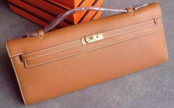 Hermes Kelly 31cm Clutch Original Leather KL31 Wheat