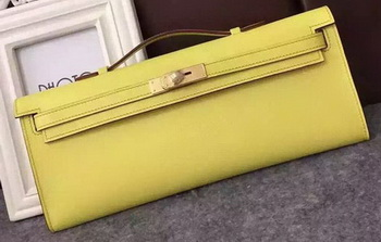 Hermes Kelly 31cm Clutch Original Leather KL31 Yellow