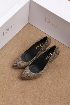 Dior 100mm Pump Snake Leather CD0464 Khaki