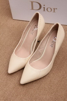 Dior 70mm Pump Snake Leather CD0443 Apricot