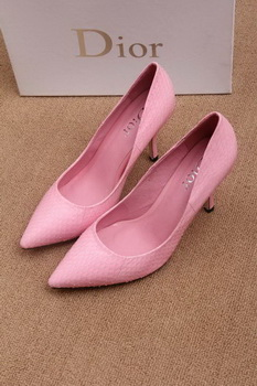 Dior 70mm Pump Snake Leather CD0443 Dark-Pink