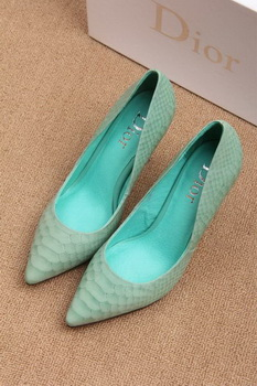 Dior 70mm Pump Snake Leather CD0443 Light Green