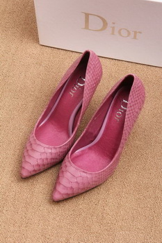 Dior 70mm Pump Snake Leather CD0443 Pink