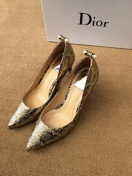 Dior 80mm Pump Snake Leather CD0349 Gold