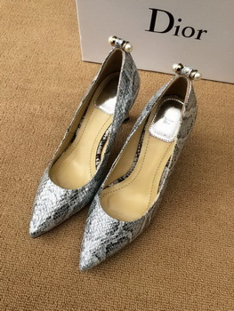 Dior 80mm Pump Snake Leather CD0349 Silver