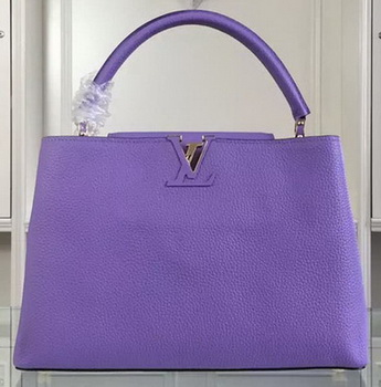 Louis Vuitton Original Litchi Leather CAPUCINES GM Bag M48870 Lavender