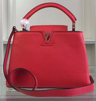Louis Vuitton Taurillon Leather CAPUCINES BB Bag M90294 Red