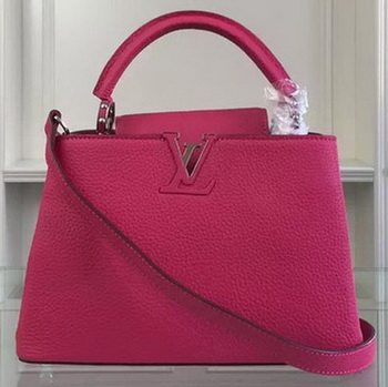 Louis Vuitton Taurillon Leather CAPUCINES BB Bag M90294 Rosy