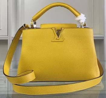 Louis Vuitton Taurillon Leather CAPUCINES BB Bag M90294 Yellow