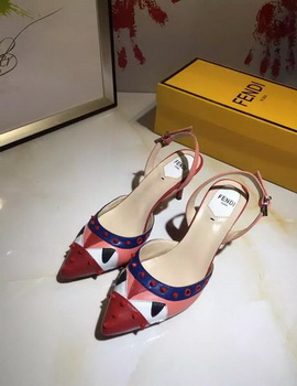 Fendi 50mm Sandal Leather FD118 Red
