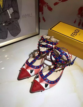 Fendi 50mm Sandal Leather FD120 Red