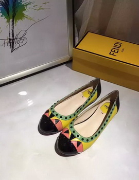 Fendi Leather Ballerina FD122 Green