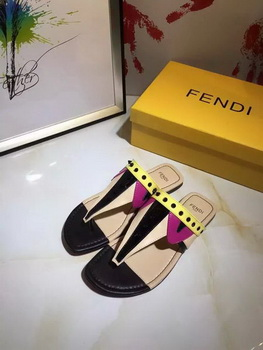 Fendi Thong Sandal Leather FD116 Black