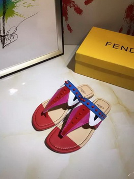 Fendi Thong Sandal Leather FD116 Red