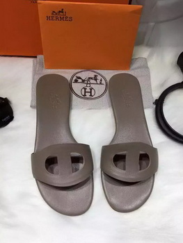 Hermes Slippers Leather HO675 Grey
