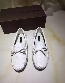Louis Vuitton Leather Casual Shoes LV666 White