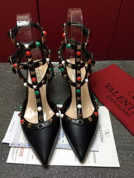 Valentino 60mm Leather Pump VT804 Black