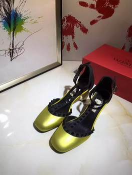 Valentino 70mm Leather Pump VT799 Gold