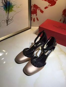Valentino 70mm Leather Pump VT799 Light Gold