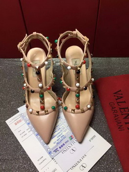 Valentino 90mm Leather Pump VT806 Apricot