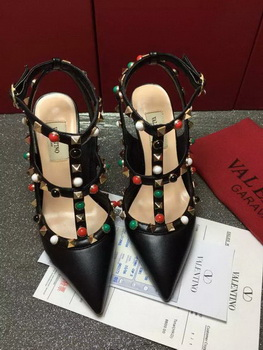 Valentino 90mm Leather Pump VT806 Black