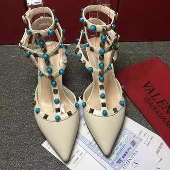 Valentino Leather 60mm Pump VT788 OffWhite