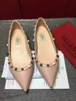 Valentino Leather Ballerina VT802 Apricot
