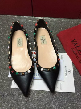 Valentino Leather Ballerina VT802 Black
