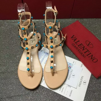 Valentino Leather Sandal VT792 Apricot