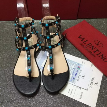 Valentino Leather Sandal VT792 Black